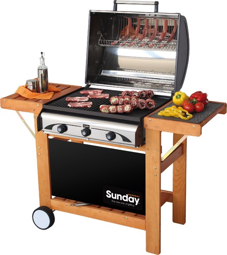BARBECUE GAS GRILL PROFY 3 W INOX SUNDAY