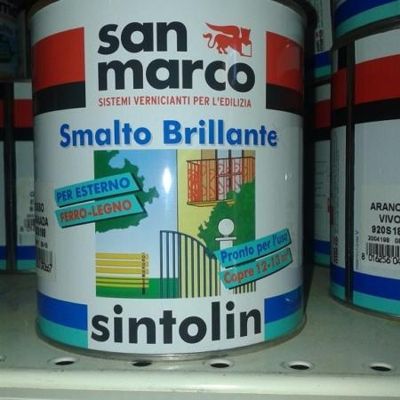 SMALTO SINTOLIN 2,5 LT ROSSO FIAMMA BRILLANTE SAN MARCO