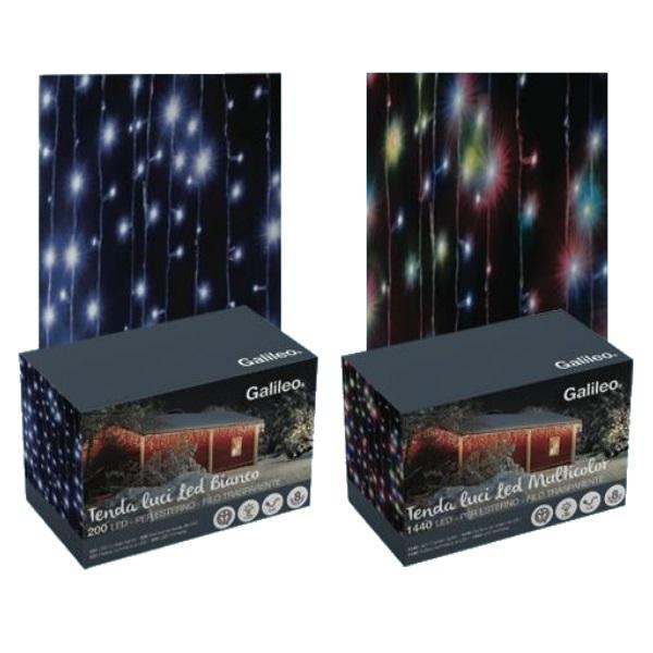 Tenda luci led galileo 300 led da esterno for Luci a led esterno